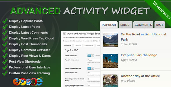 CodeCanyon Advanced Activity Widget 1525794