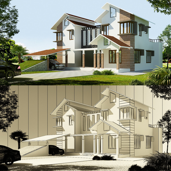 Realistic Exterior 3D 8080 111 - 3DOcean Item for Sale