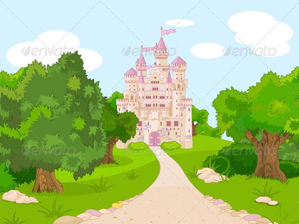 GraphicRiver Castle on hill 3099620