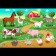 Farm animals with background. - GraphicRiver Item for Sale