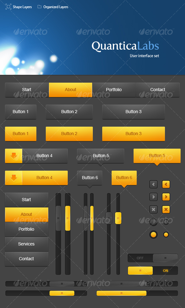 GraphicRiver User Interface set #1 109847