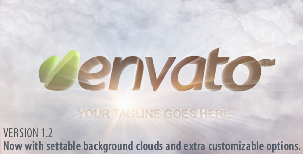 After Effects Project - VideoHive Clouds and Shiny Logo Reveal 2866142