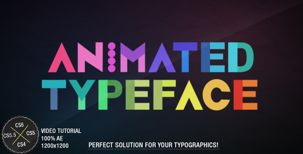 VideoHive Animated Typeface 3100489