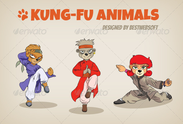 Kung-Fu Animals - Animals Characters