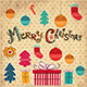 Download Vector Vector Christmas card with gifts