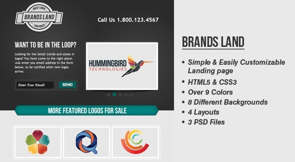 BrandsLand - Template Website