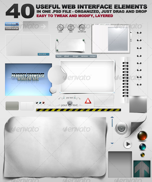 GraphicRiver 40 Web Graphic Goodies 109860