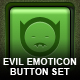 "7 ""Evil"" Emoticon Buttons - GraphicRiver Item for Sale"
