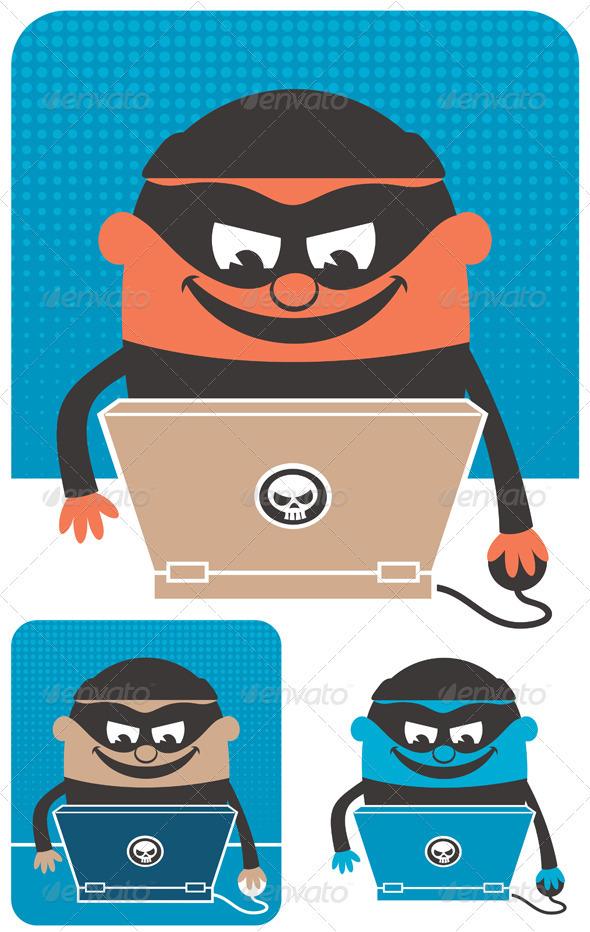 Computer Crime - Characters Vectors