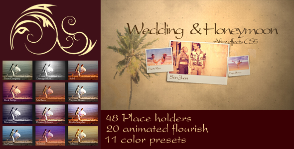 After Effects Project - VideoHive Wedding & Honeymoon 3101891