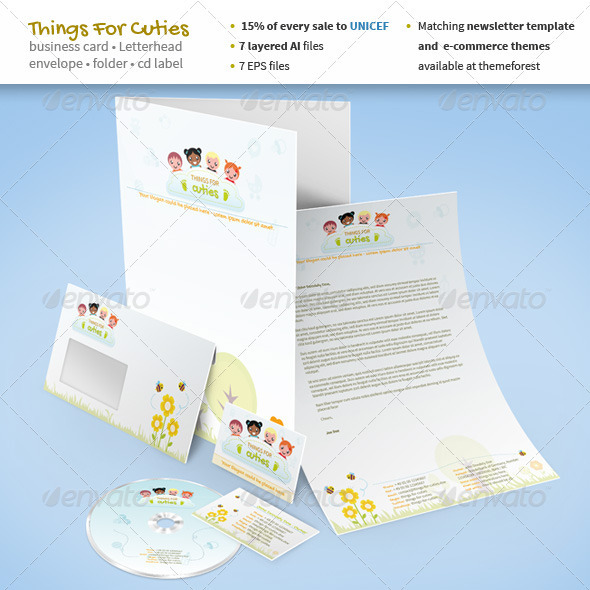 Things For Cuties - Stationery for Baby Related - Stationery Print Templates