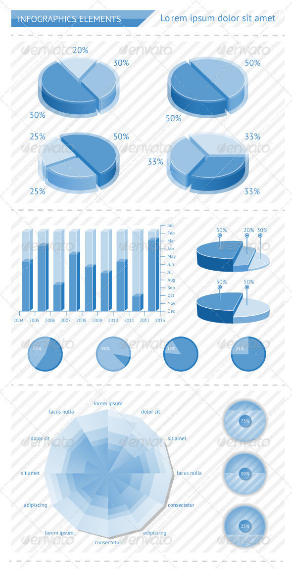 GraphicRiver Infographics elements with schedules 3101945
