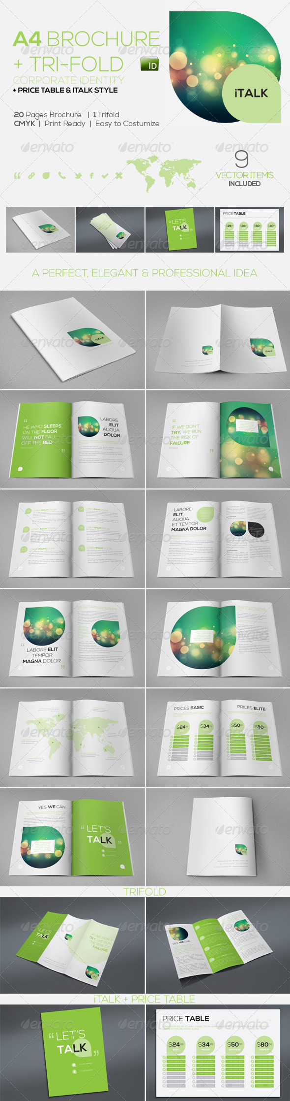 iTalk Elegant Corporate Identity Brochure &&&