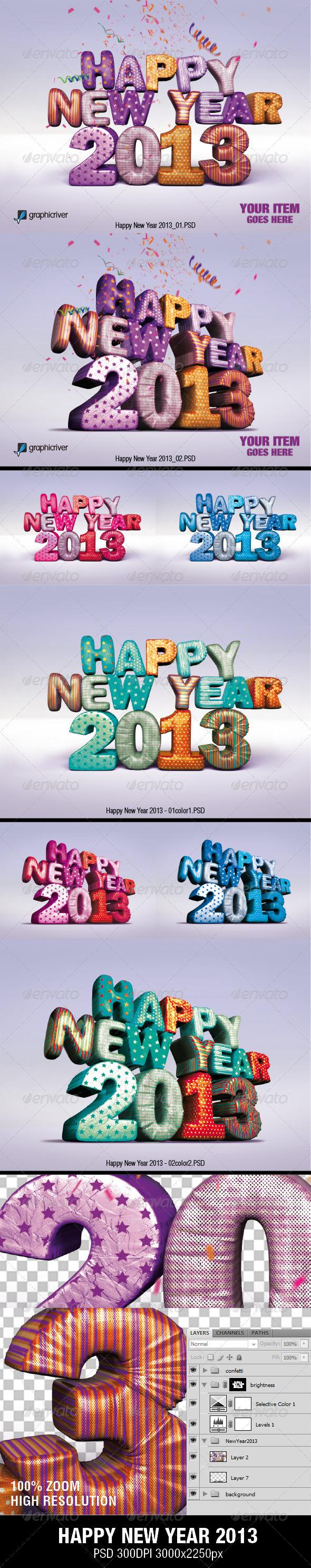 GraphicRiver HAPPY NEW YEAR 2013 3102001