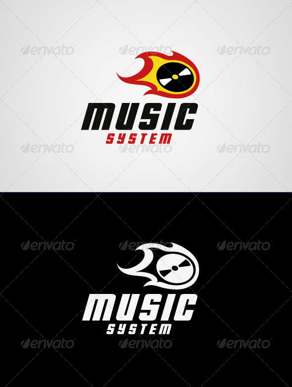 Music System Logo Template