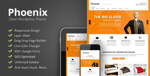 ThemeForest Phoenix Clean Responsive Wordpress Theme 3102249