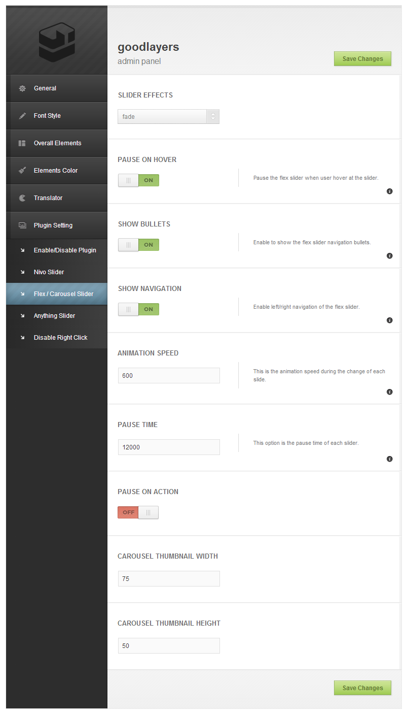 Phoenix - Clean Responsive Wordpress Theme - adminpanel