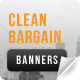 Clean Bargain Web Banners - GraphicRiver Item for Sale