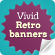 Vivid Retro Banners - GraphicRiver Item for Sale