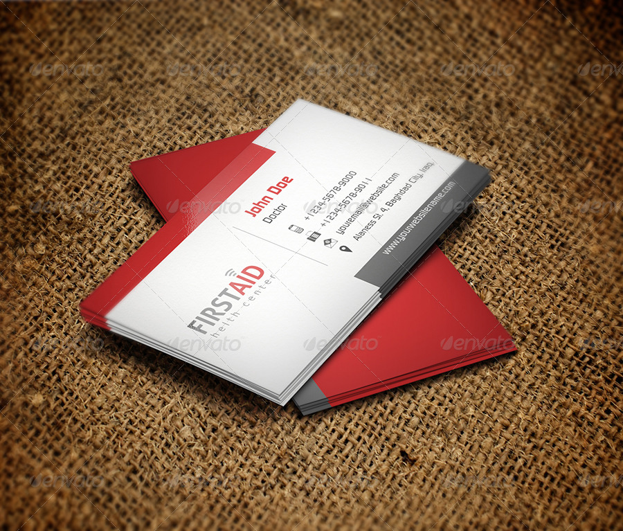 First Aid Business Card