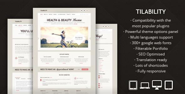 ThemeForest Tilability Responsive Health & Beauty WP theme 2699052