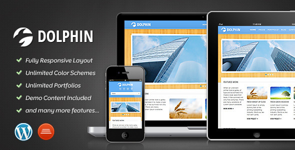 ThemeForest Dolphin Responsive WordPress Theme WordPress Creative Portfolio 2454257