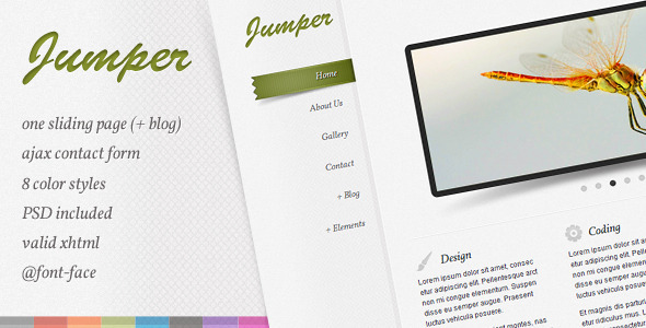 ThemeForest Jumper one page template 161594