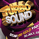 Friday VIP Turbo Sound Party Flyer / Poster - GraphicRiver Item for Sale
