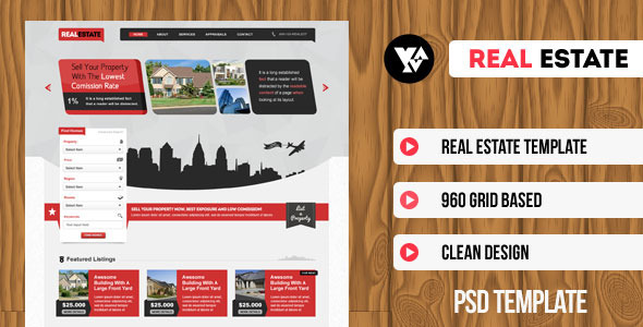 ThemeForest Real Estate PSD Template 3081015