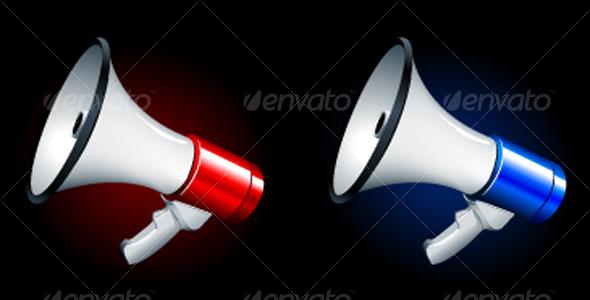GraphicRiver megaphones 107457