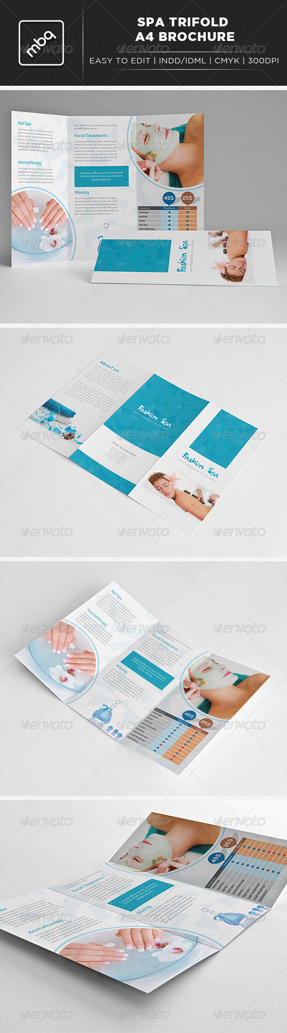 GraphicRiver Spa Trifold A4 Brochure 3025291