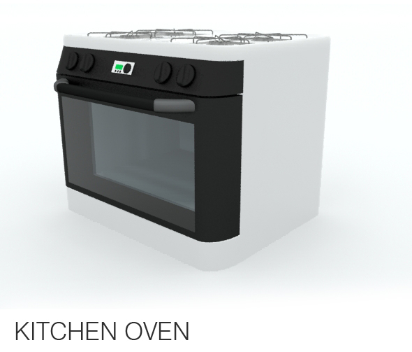 3DOcean Kitchen Oven 110061