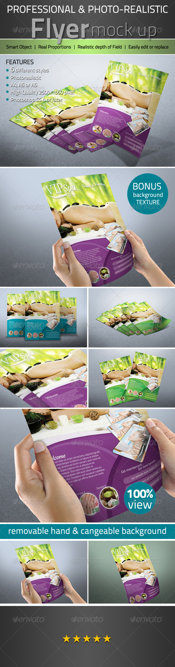 GraphicRiver Professional Photorealistic Flyer mock up 3088307