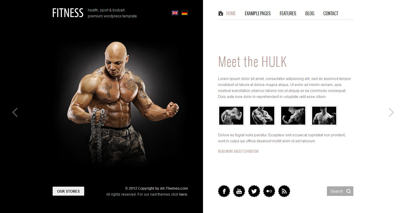Fitness: Unique design meets Wordpress