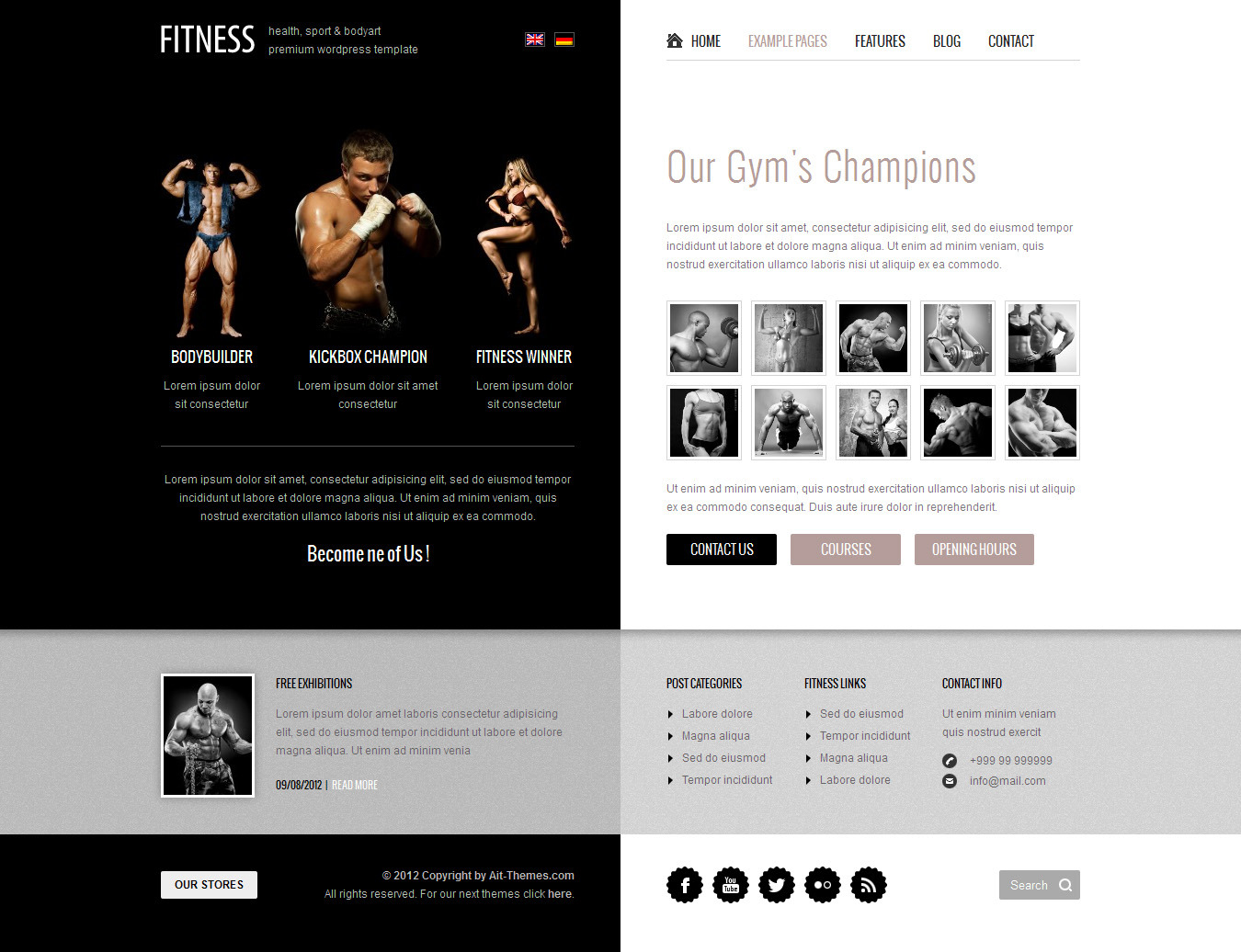 Fitness: Unique design meets Wordpress