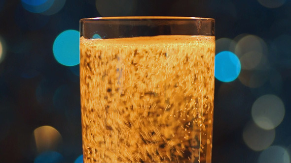 Glass With Sparkling Wine