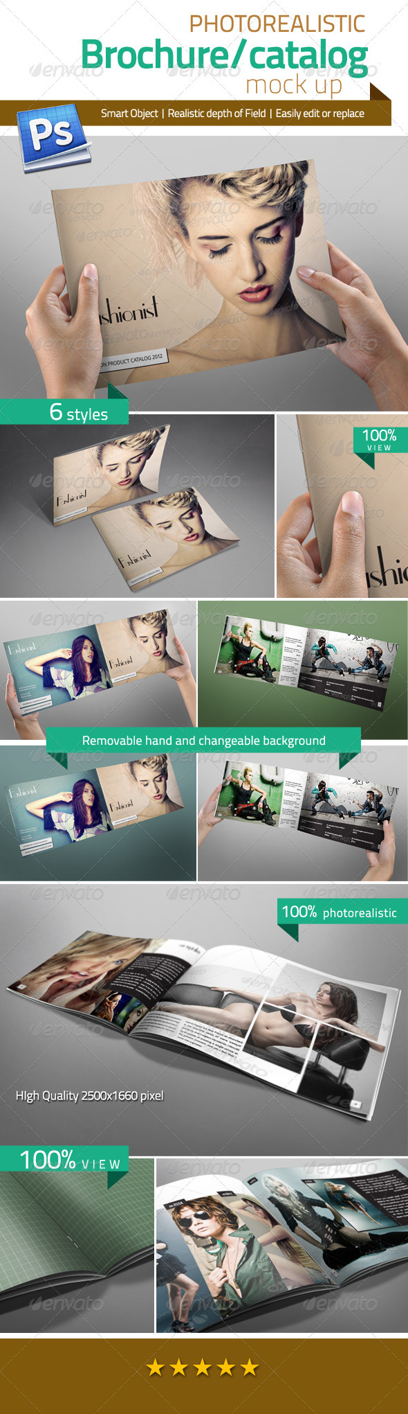 GraphicRiver Professional Brochure Catalog Mock Up 3106108