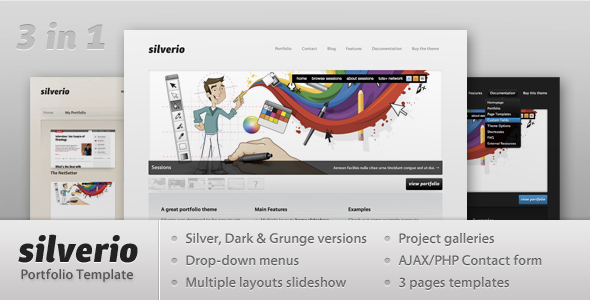 Silverio Portfolio Template