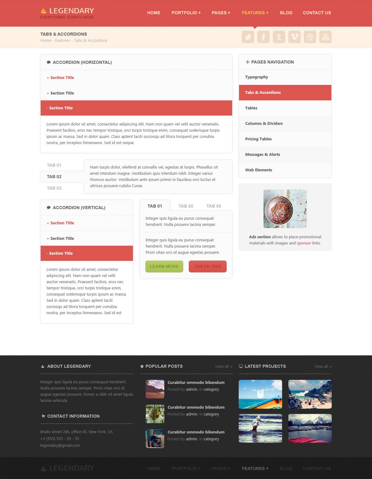Legendary | Multi-purpose PSD Template