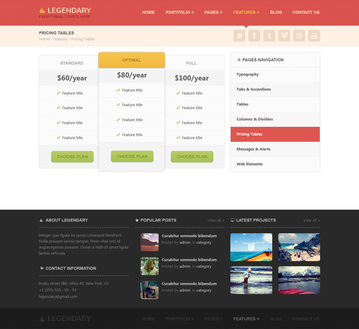 Legendary | Multi-purpose PSD Template