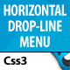 CSS3 Horizontal Drop Line Menu