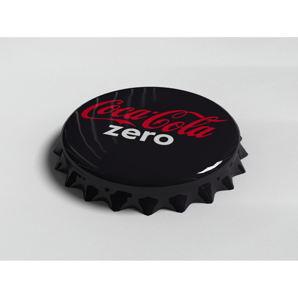 Cola Zero Bottle Tin Cap - 3DOcean Item for Sale