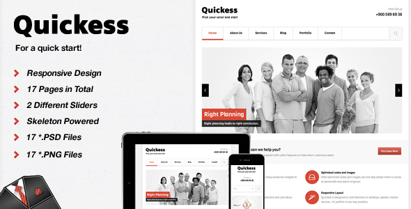 Quickess Corporate  HTML Template