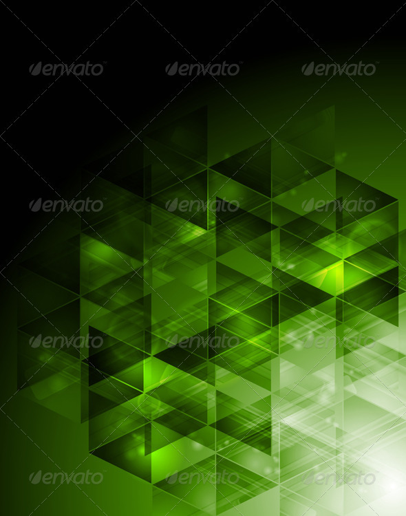 Abstract hi-tech design with triangles - Technology Conceptual