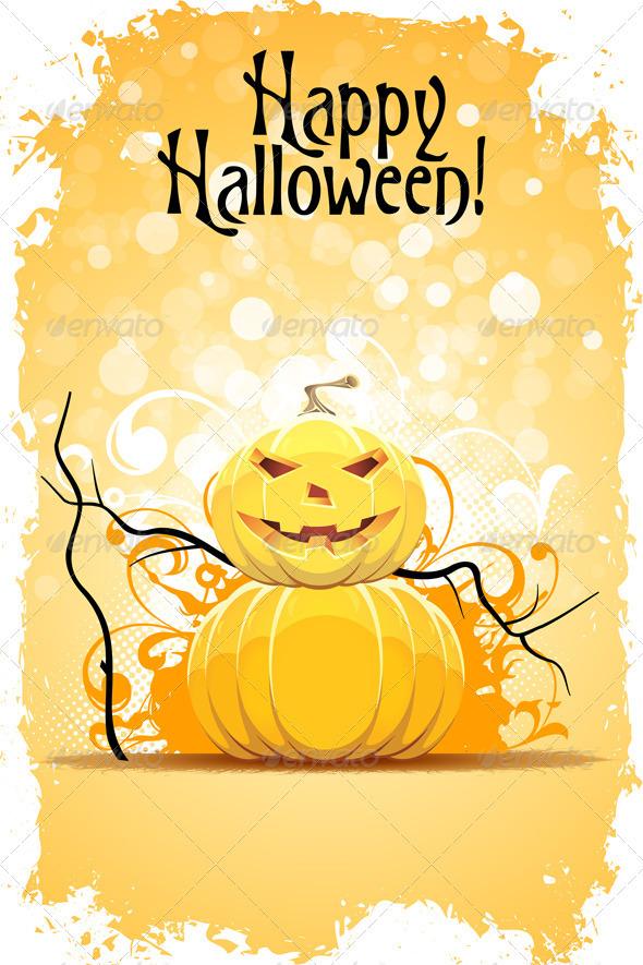Grungy Halloween Background