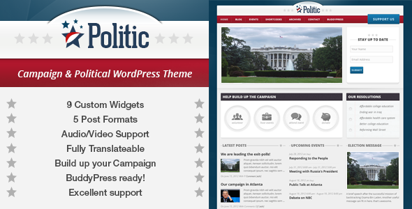 ThemeForest Politic Campaign Political WP & BuddyPress Theme 2564042