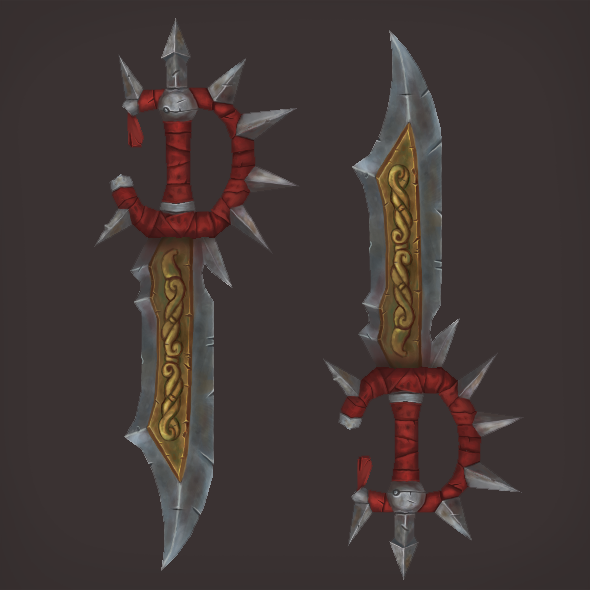 Low Poly Fantasy Sword - 3DOcean Item for Sale