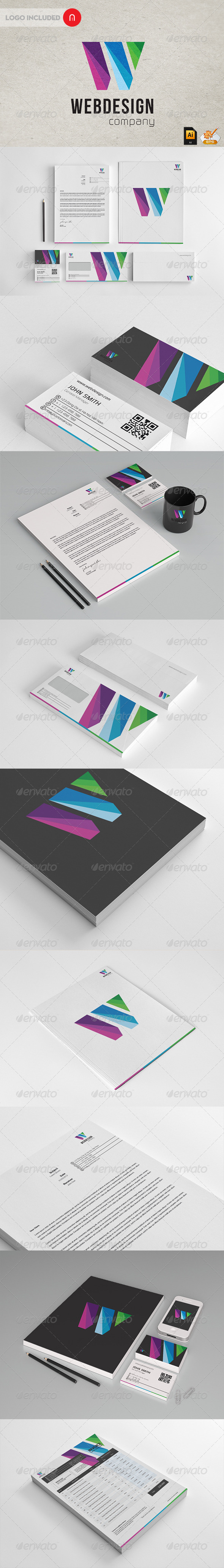 GraphicRiver Wen Design Modern Stationary & Invoice 3112752