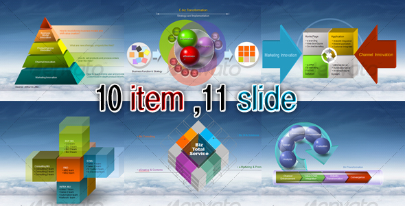 3D Diagrams Presentation Templates Designs