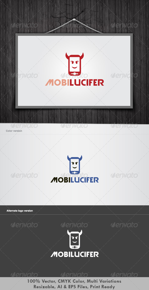 Mobile Lucifer Logo - Vector Abstract